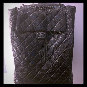 COPY - Authentic jumbo XL CHANEL lambskin backpack